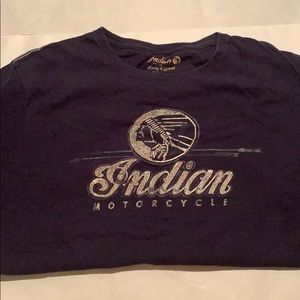 L Lucky Brand Indian Motorcycle shirt